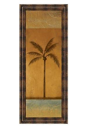 Classy Art Golden Palm I Framed Wall Art - 18W x 42H in. - 1230