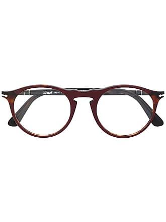 Persol Armação de óculos redonda - Vermelho