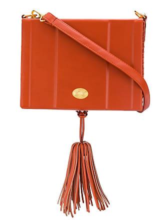 Zeus + Dione Attiki tassel shoulder bag - Orange