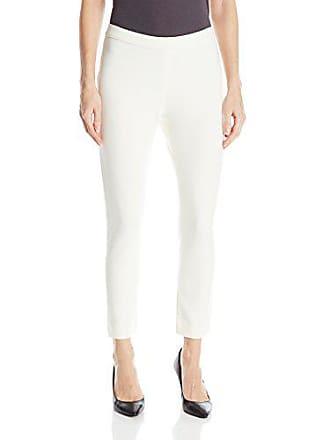 Joan Vass Womens Slim Ponte Pant, Cream, 0