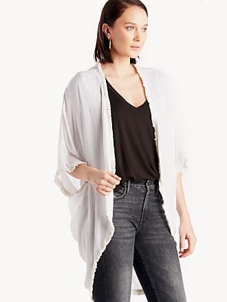 Sole Society Womens Cotton Gauze Kimono Natural One Size From Sole Society
