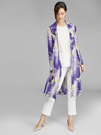Etro Light Printed Silk Crépon Coat, Woman, Purple, Size 38