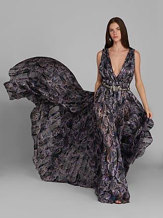 Etro Paisley Print Evening Dress, Woman, Black, Size 38