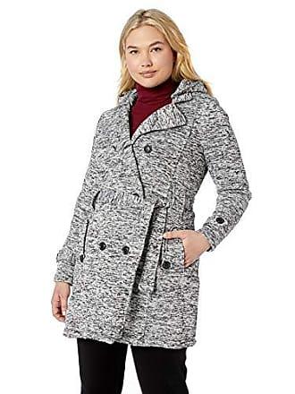Yoki Womens Plus Size Double Breast Long Fleece Jacket, Heather Grey Sweater, 3X