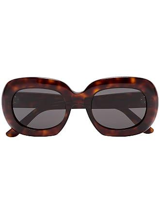 33e9cabc4fece Celine Óculos de sol redondo oversized - Marrom