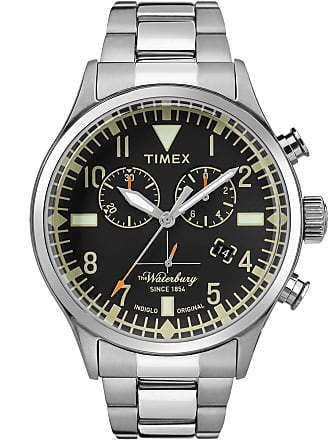 Timex Watch Mens Waterbury Traditional Chronograph 42MM Stainless Steel Steel/stainless Steel/black Item Tw2R24900Vq
