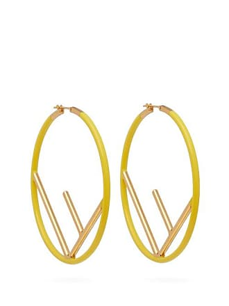 e58339afdb74 Fendi F Is Fendi Hoop Earrings - Womens - Yellow