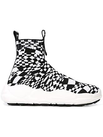 db727f8adb22 Versus checkered hi-top sneakers - Black