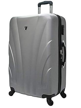 Yin's Mala de Viagem Grande ABS c/Rodinhas 360° Prata YS1009Pa-G