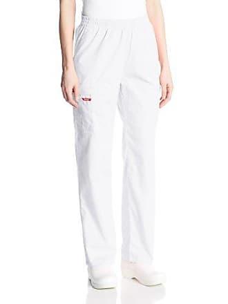 9266e9c89d8 Dickies Womens Signature Elastic Waist Scrubs Pant, White, Medium