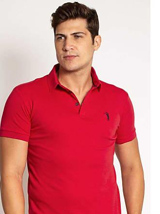 Aleatory Camisa Polo Aleatory Lisa Algodão Pima Vermelha-Vermelho-P