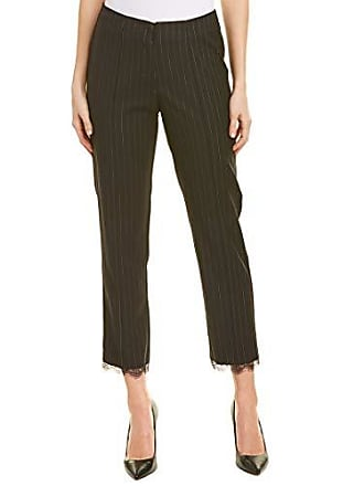 Nicole Miller Womens Tappered Ankle Pant, Black/White, 8