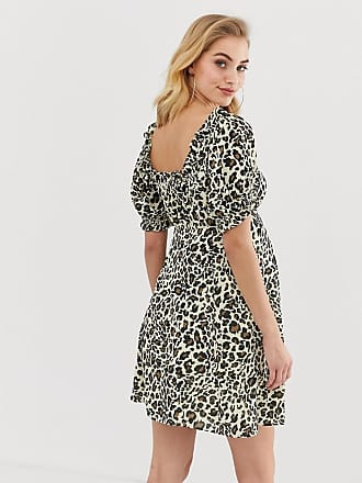 a3db037d57 Asos Maternity ASOS DESIGN Maternity sweetheart mini dress in leopard print  - Multi