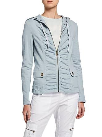 Xcvi Park Slope Ruched Zip-Front Hooded Jacket
