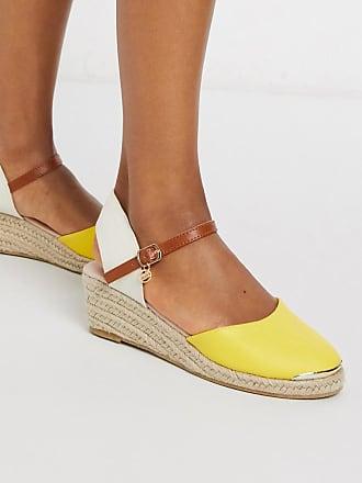 Kurt Geiger lea heeled espadrilles in yellow