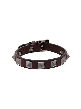 Valentino Burgundy Rockstud Bracelet Red