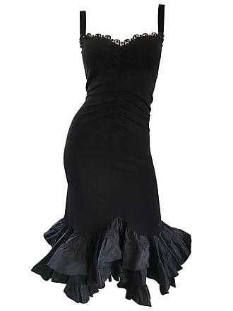 ad539760ef Max Mara 1990s Max Mara Black Jersey Sequin Bodycon Jersey Mermaid Vintage Cocktail  Dress