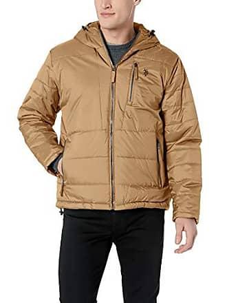 U.S.Polo Association Mens Hooded Puffer Jacket, Honey, XL