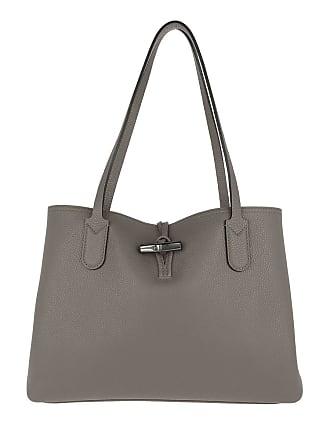 29017ba25a09d Longchamp Roseau Essential Tote Bag M Leather Grey Tote grau