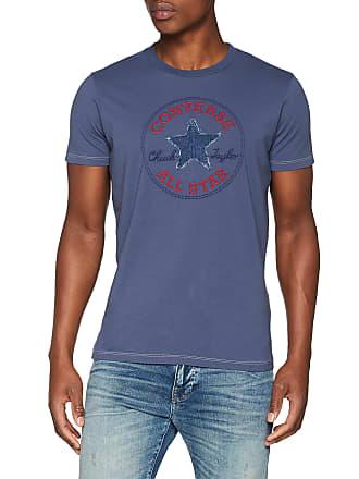 c6d98f72ff4f Converse Mens T-Shirt SS Crew CT Denim Star VINTBLUE Regular Fit T - Shirt