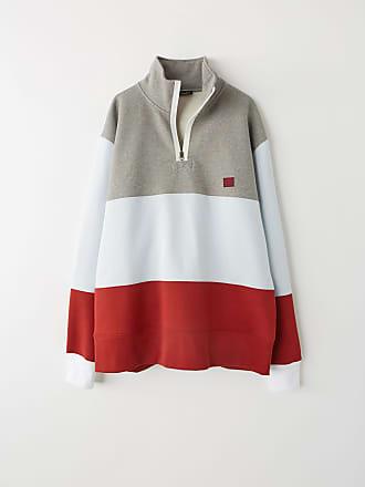 Acne Studios FA-UX-SWEA000015 Light Grey Melange Zip fleece