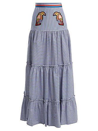 de2ae2b5d4 Stella Jean Tiered Striped Maxi Skirt - Womens - Navy Stripe
