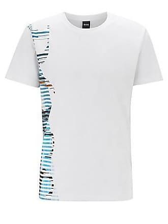 e2b79faea BOSS Stretch-cotton T-shirt with statement logo artwork