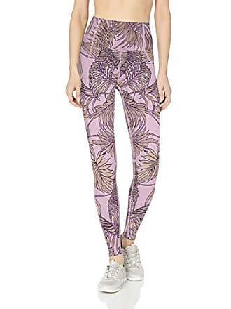 Maaji Womens Dazeful High Rise 7/8th Length Legging, Lilac Purple Palm Large