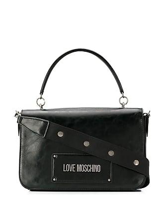 Love Moschino foldover top tote - Black