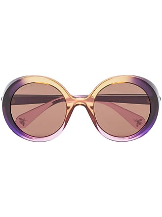7882b33e62c Gucci multicoloured tinted round sunglasses - Purple