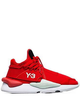 Yohji Yamamoto red Kaiwa striped low-top sneakers