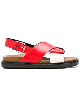 Marni criss-cross Fussbett sandals - Red