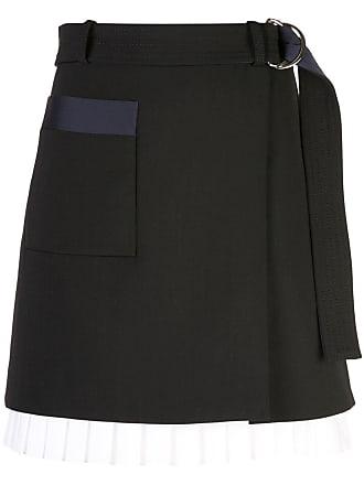 Victoria Beckham A-line mini wrap skirt - Black