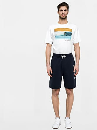 Sundek stretch waist walk shorts with logo print