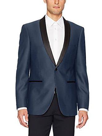 U.S.Polo Association Mens Dinner Jacket, Blue Poly Blend, 40 Long