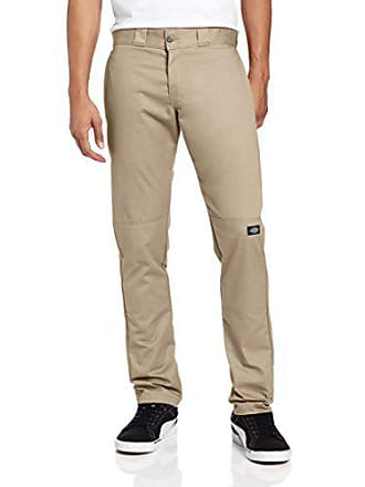 Dickies Mens Skinny Straight Double Knee Work Pant, Desert Sand, 38x34