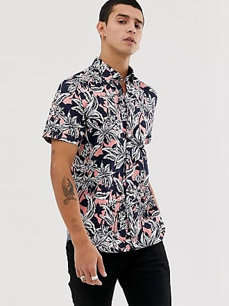 Ted Baker shirt with Hawaiian floral print - Navy