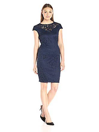5f1a2de42da5f Marina Rossini Womens Short Cap Sleeve Lace Dress, Navy, 10