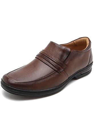 Rafarillo Sapato Social Couro Rafarillo Liso Caramelo