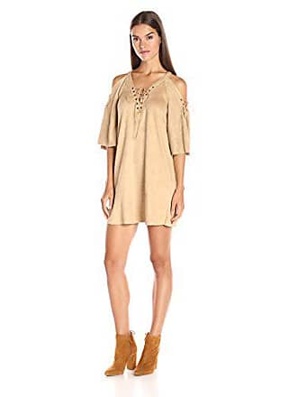 7e733b20db Ark   Co. Womens Lace up Front Open Sleeve Shift Dress