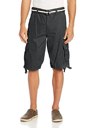 843ea145 Southpole Mens Belted Ripstop Basic Cargo Short with Washing and 13.5 Inch  Length All Season,