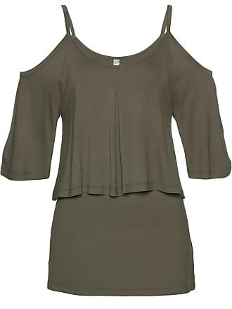 a283b09266287d Bonprix Dames off-shoulder-shirt halve mouw in groen - bpc selection