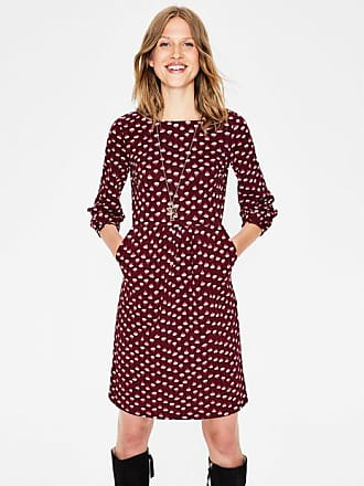 Boden Odelia Jersey Dress Mulled Wine Dandelion Bud Women Boden