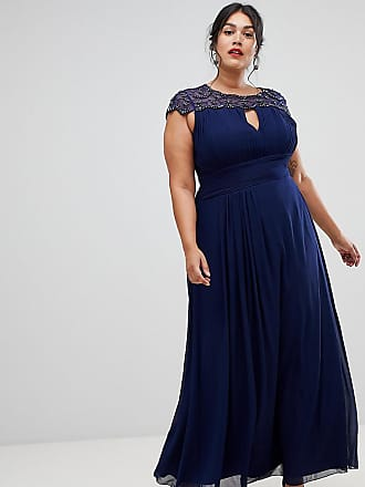 7aa965665 Little Mistress embellished top maxi dress in navy - Navy