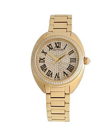 Zales Ladies Croton Cubic Zirconia and Crystal Accent Gold-Tone Watch (Model: Cn207564Ylpv)
