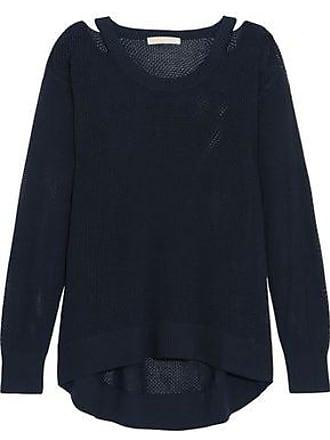 6248105e765 Michael Kors Michael Michael Kors Woman Cutout Open-knit Sweater Navy Size  XXS