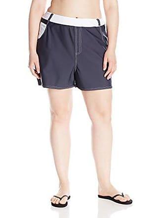 272f35b795f Free Country Womens Plus-Size Jean Swim Short, Steel/White, 2X