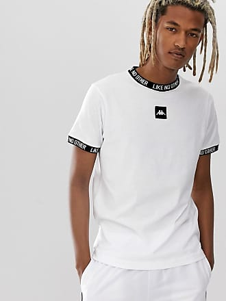 c166966b9 Kappa Authentic Basco t-shirt with jacquard neck and sleeve and chest logo  in white