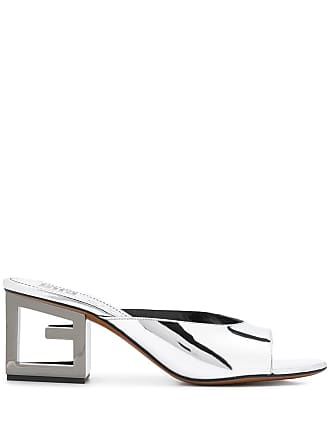 Givenchy G heel mules - Silver