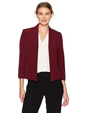 Kasper Womens Stretch Crepe Flyaway Jacket, merlot 16